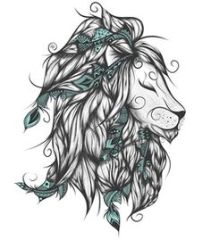 Poetic Lion Turquoise Art Print by loujah Leo Tattoos, Animal Tattoos, Future Tattoos, Body Art Tattoos, Tatoos, Lion King Tattoos, Tigh Tattoo, Petit Tattoo, Tattoo Und Piercing