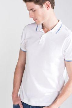 Cortefiel Short sleeve polo White