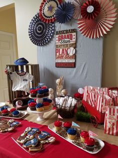 Baseball themed baby shower.