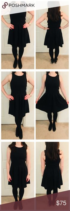 Cynthia Rowley Fit & Flare Black Dress  Worn, but in great condition! Stretches to fit! Cynthia Rowley Dresses Mini