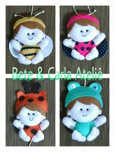 Meninas vestidas de bichinhos #abelha #joaninha #girafa #sapo