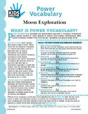 FREE, 16-Page Downloadable Vocabulary Packet for Kids Discover Moon Exploration!
