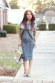 Vestido Estilo Midi Via www.JessicaFashionNotes.com, petite, style, #15weekspregnant, preggo, outfit, fashion, ootd, minimalist, joryck