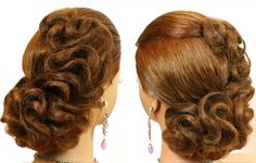 Wedding prom hairstyle for medium hair. Tutorial