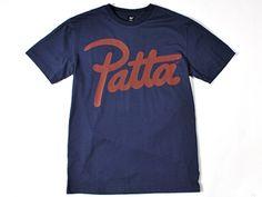 Patta Navy/Red Script Logo T-shirt