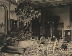 Gezireh Palace Large Salon in A Portrait of H. Khedive Abbas Hilmi II Can be Seen Hanging. Old Egypt, Cairo Egypt, Palace Hotel, Royal Palace, Grey Wallpaper Iphone, Military Coup, Palace Interior, Golden Days, Vintage Travel Posters