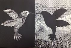 Positive and Negative Space Art