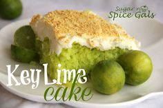 Spice Gals: Key Lime Cake...maybe without the green food coloring?