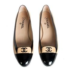 Chanel Cap Toe Ballerina Flats Shoes Size 42 by None, via Polyvore