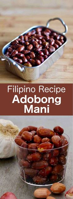 Adobong mani is a traditional Filipino street food recipe prepared with delicious garlic-flavored deep-fried peanuts. Ingredients 2 lb peanuts , with . Filipino Street Food, Thai Street Food, Indian Street Food, Filipino Dishes, Filipino Recipes, Asian Recipes, Beer Recipes, Snack Recipes, Healthy Recipes