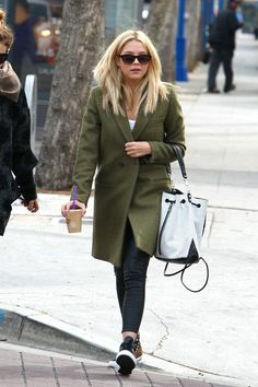 Ashley Benson wearing Converse Sneakers CTAS Leopard Stud Hi Top sneakers Elizabeth and James Perforated Cynnie Sling Bag