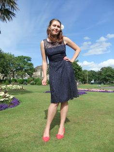 Wedding guest outfit loved d cheery contrast