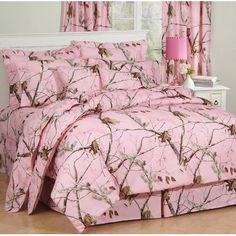 #girls bedrooms, Camo Bedding Collection in Pink-Camo Comforter Set in Pink