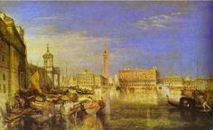 Bridge of Sighs, Ducal Palace and Custom House, Venice Canaletti Painting, 1833, William Turner Medium: oil, canvas
