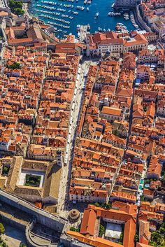 As straight as an arrow through the heart of Dubrovnik the Stradun is THE place to see and be seen