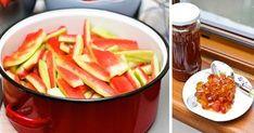 Kár lenne kidobni a görögdinnye héját, káprázatos lekvárt főzhetsz belőle! - Egyszerű Gyors Receptek Watermelon, Gem, Recipes, Food, Drinks, Gastronomia, Green, Canning, Hungarian Recipes