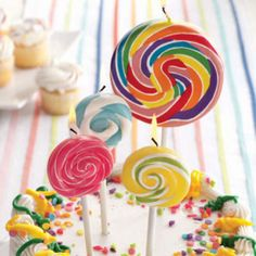 Lollipop Candle Favo