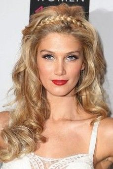 Romantic Braided Long Blonde Hairstyle for 2014 Long Hairstyles