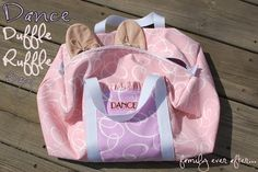 Great tutorial for how to make a dance bag.