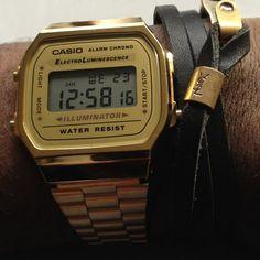 Gold Casio Digital Watch