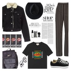 """""""Untitled #321"""" by ksalma ❤ liked on Polyvore featuring Balenciaga, Gucci, Pepe Jeans London, Oris, Converse, American Apparel, Ryan Roche and Bobbi Brown Cosmetics"""