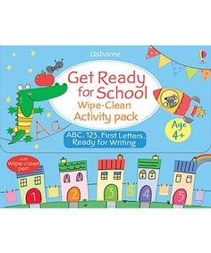 Get Ready For School - Wipe Clean Activity Set NOW HALF PRICE