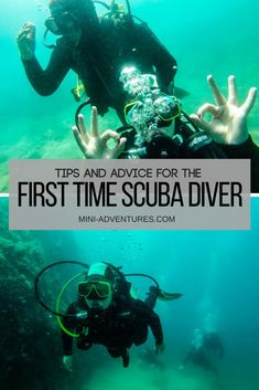 Wanna try scuba diving? Check out my guide to your first time diving, from my own experience of diving in Montenegro! Scuba diving opens a whole new world for you. Scuba Diving Gear, Cave Diving, Sea Diving, Diving Suit, Scuba Diving Quotes, Diving Helmet, Scuba Diving Magazine, Scuba Diving Certification, Scuba Diving Equipment