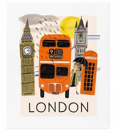Illustration by Anna Bond - Rifle paper co. Our UK distributor is hosting a Rifle Paper Co. Pop Up Shop in London starting this Friday! Be sure to stop by to shop nearly our entire collection from May. Anna Bond, London Illustration, Travel Illustration, London Poster, London Art, Plan Ville, Big Ben, London Painting, White Wall Art