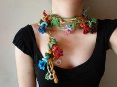 Honeysuckle ... Freeform Crochet Scarflette | irregular expressions | Flickr