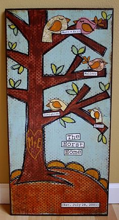 birds in a tree ~ inspiration for a wall painting