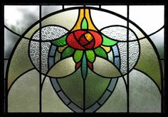 Art Nouveau/ Deco Stained Glass floral