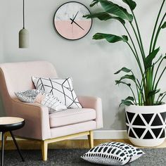 Dulux Colour #TranquilRetreat provides a cool relaxing backdrop for blush…