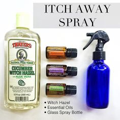 Essential oil itch away spray