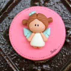 Angel Baptism First Communion Party Favor  fondant sugar paste clay
