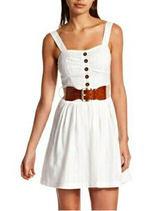 Cute White Dress, White Boho Dress, Little White Dresses, Cute Summer Dresses, Summer Outfits, Summer Clothes, Dress Skirt, Dress Up, Skater Dress