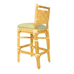 The Dongegal Armless Barstool. Rattan, from Walters Wicker Interior Collection.