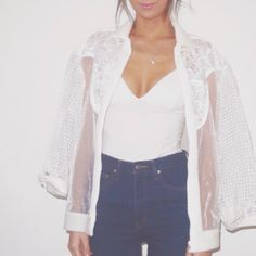 Need this white bomber jacket from @cameo_the_label #white#bomber#jacket#transparent