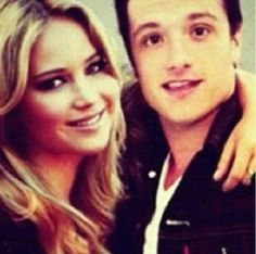 Josh Hutcherson and Jennifer Lawrence.. two of my favorite people right there!!