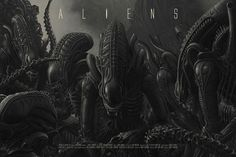 These Are Two of the Best Aliens Posters We've Ever Seen Alien 1979, Alien Film, Ellen Ripley, Alien Vs Predator, Predator Art, Xenomorph, Concept Art Alien, James Cameron Aliens, Saga Art