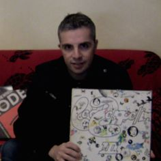 """This is me with one of my favourite #vinyl of the #LedZeppelin. """"Led Zeppelin III"""" is the 3rd studio album by the English rock band. It was released on 5 October by Atlantic Records and composed largely at a remote cottage in Wales. This work represented a maturing of the band's music towards a greater emphasis on folk and acoustic sounds."""