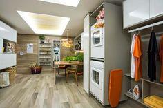 Decor Salteado - Blog de Decoração e Arquitetura : Cozinhas e lavanderias integradas - veja ideias para ambientes pequenos e apartamentos!