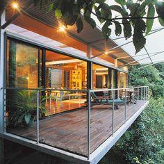 Crystal Creek Rainforest Retreat. Can you imagine enjoying a spacious balcony amidst the trees?: