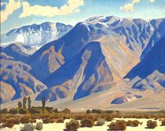 A Desert Valley: Panamint, California, 1922, oil on canvasboard by Maynard Dixon