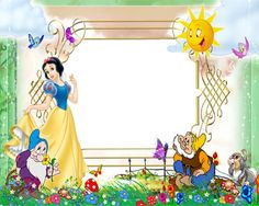 Free Disney Borders | cartoon frame 22 Snow White Frame Picture