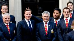 Link to video: Rugby player Manu Tuilagi does 'bunny ears' behind David Cameron #theguardian #manutuilagi #davidcameron #bunnyears #rugby ✌