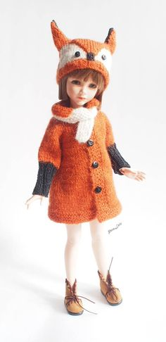 #14indoll #clothing #Fox #costume, fox #hat, for other #dolls size #35cm / #13in #KID #iplehouse #Christmas #costume #