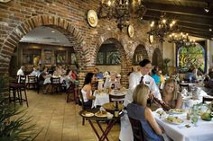 Famous for its 1905 Salad, named for the year the restaurant opened, the Columbia Restaurant in St. Augustine, Florida is a Spanish-Cuban favorite. The restaurant specializes in seafood dishes and century-old family recipes.