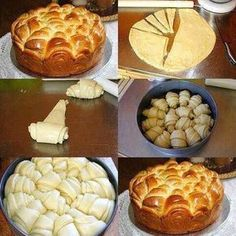 Brioche method for forming. Cooking Chef, Cooking Recipes, Levain Bakery, Bread Shaping, Bread And Pastries, Dough Recipe, Sweet Recipes, Food And Drink, Cupcakes