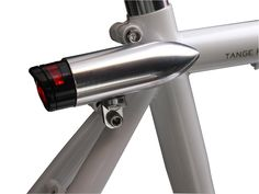 Silver Bullet Rear Safety Flasher -   Rear LED flasher with a touch of class. A perfect addition to your cruiser, townie bike or vintage roadster.  - Machined aluminum housing  - Single-LED visible from over 500 meters  - Mounts to braze-ons or seatstay  - Uses a single AAA battery (not watch batteries)  - Up to 30 hours of run time  - Not for weight weenies