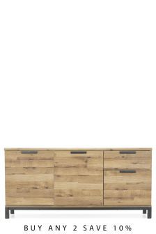 Buy Bronx Large Sideboard from the Next UK online shop Metal Sideboard, Large Sideboard, Rectangle Dining Table, Dining Tables, Coffee Tables, Drinks Cabinet, Walnut Table, Minimalist Home Decor, Cupboard Storage